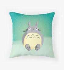 Sitting Totoro Throw Pillow