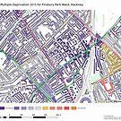Multiple Deprivation Finsbury Park ward, Hackney by ianturton