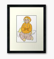 gudetama boy  Framed Print