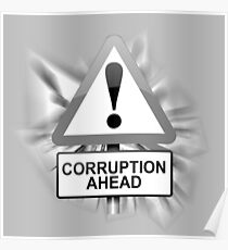 Corruption concept. Poster
