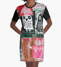 Owls 4 Graphic T-Shirt Dress