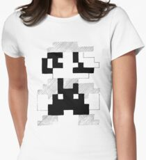 8 Bit Mario Womens Fitted T-Shirt