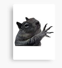 Plzzzzz Squirrel Canvas Print
