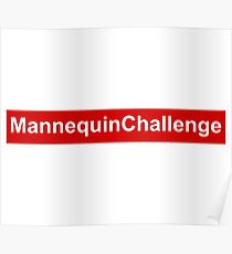 mannequin challenge red box Poster