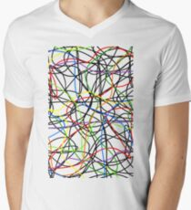 Neon lines Men's V-Neck T-Shirt