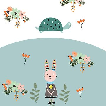 A Pastel Tortoise and Hare Story by Elbas