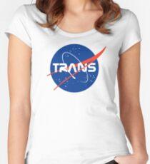 Trans* - Nasa Logo inspired design. Women's Fitted Scoop T-Shirt