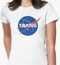 (THE ORIGINAL) Trans* - Nasa Logo inspired design. Women's Fitted T-Shirt