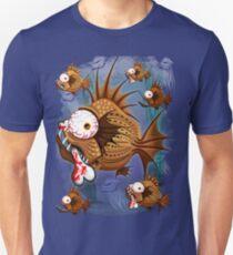 Psycho Fish Piranha with Bloody Bone Unisex T-Shirt