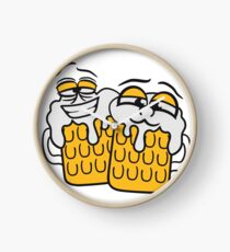 friends team crew cool funny face alive comic cartoon thirst logo beer pitcher drinking drinking party celebrate drinking alcohol symbol cool shirt oktoberfest Clock