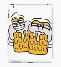 friends team crew cool funny face alive comic cartoon thirst logo beer pitcher drinking drinking party celebrate drinking alcohol symbol cool shirt oktoberfest iPad Case/Skin