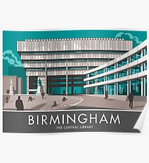 Birmingham Central Library Poster