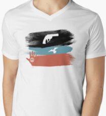 Guns and Peace - T-Shirt Men's V-Neck T-Shirt