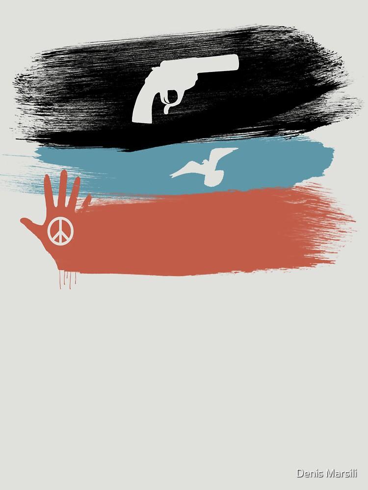 Guns and Peace - T-Shirt by ddtk