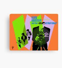 Elvis Costello Attractions Canvas Print