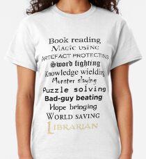 Librarian black text Classic T-Shirt