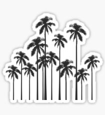 Black and White Exotic Tropical Palm Trees Sticker