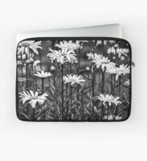 Black and White Daisies Laptop Sleeve