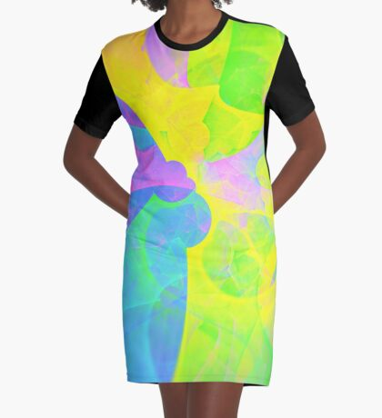 Bright #Fractal Art Graphic T-Shirt Dress