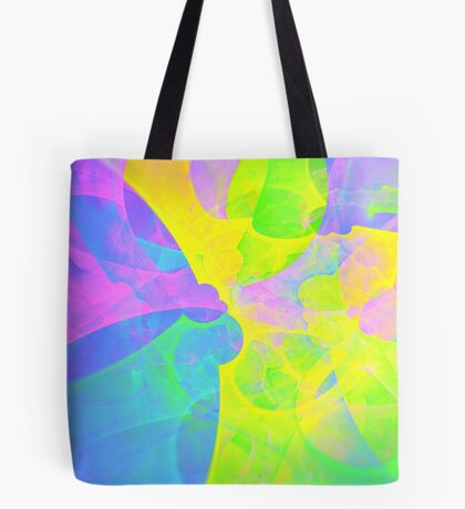 Bright #Fractal Art Tote Bag