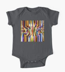 Abstract Colorful Art Design One Piece - Short Sleeve