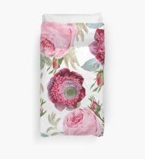 Vintage Botanical Roses Duvet Cover