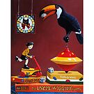Toucan Play at this Game - whimsical fantasy imaginative realism painting by LindaAppleArt