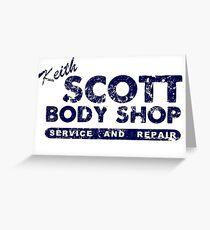 Keith Scott Body Shop Logo Greeting Card