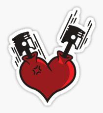 Heart Pistons Sticker