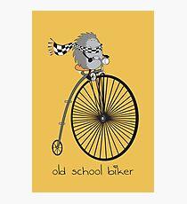 old school biker Photographic Print