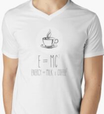 Energy = Milk x Coffee Men's V-Neck T-Shirt