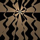 Gold and black waves pattern design by walstraasart