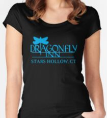 Gilmore Girls - Dragon Fly Inn Blue Women's Fitted Scoop T-Shirt