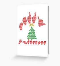 american sign language merry christmas greeting card