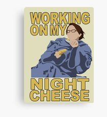Liz Lemon - Night cheese Canvas Print