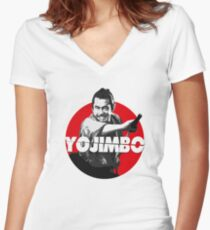 Yojimbo - Toshiro Mifune Women's Fitted V-Neck T-Shirt