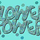 Floral Riot - Blue Wash by Geckojoy