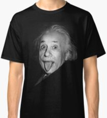Albert Einstein Genius Tongue Funny Classic T-Shirt