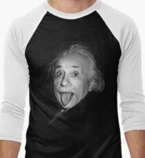 Albert Einstein Genius Tongue Funny Men's Baseball ¾ T-Shirt