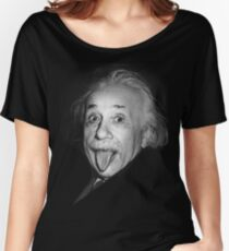Albert Einstein Genius Tongue Funny Women's Relaxed Fit T-Shirt