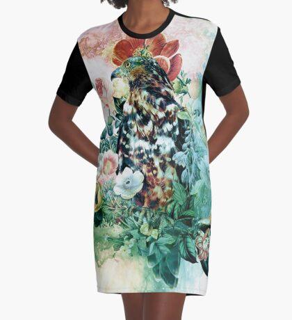 Bird in Flowers Robe t-shirt