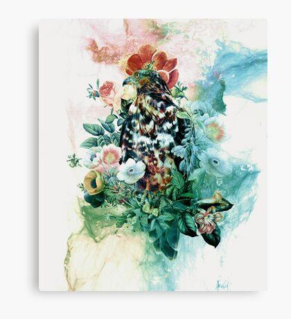 Bird in Flowers Canvas Print