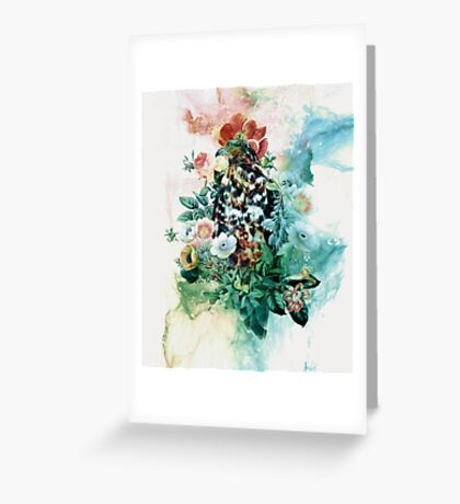 Bird in Flowers Greeting Card