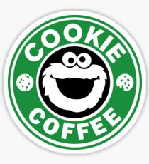 Cookie Coffee monster funny parody drink eat crazy Sticker