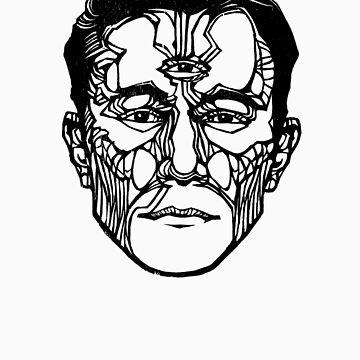 """Joseph Gordon-Levitt"" Woodcut (Hollywooden) by darcyjwatt"