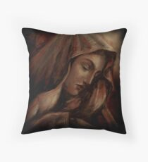 Virgin Mary - Mother Mary - Prismacolor Throw Pillow
