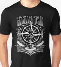 Nautical Skipper Vintage Compass and Anchor Distressed T-Shirt