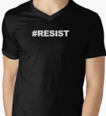 RESIST Hashtag Shirt Men's V-Neck T-Shirt