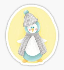 Pinguin. Winter. Weihnachten.  Sticker