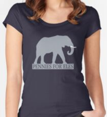 Pennies for Eles - Salvation through Conservation Women's Fitted Scoop T-Shirt